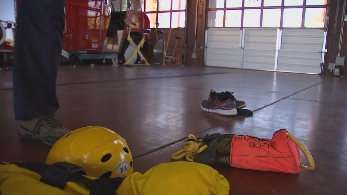 Phoenix Fire Station 8's Technical Rescue team was the one to make that save on Tuesday night, one they expect to do that a dozen times by the end of the year. (Source: 3TV/CBS 5)