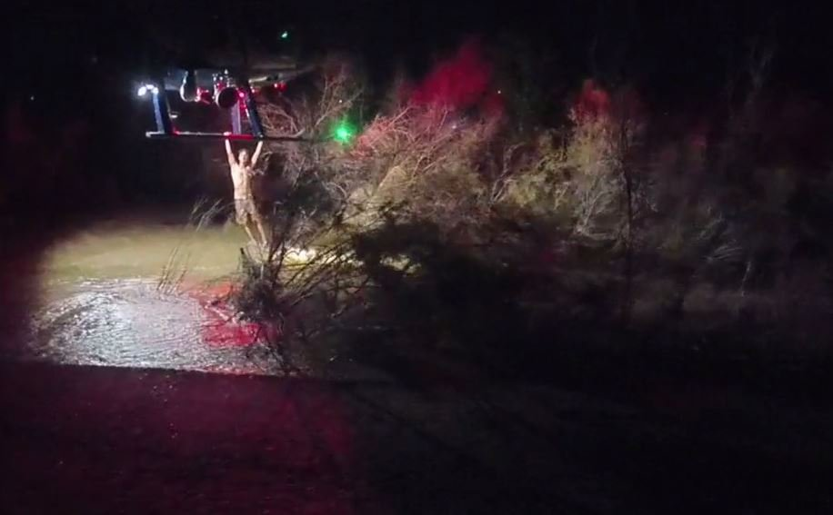 Man rescued from river bottom by police helicopter. (Source: Mesa Police Department)