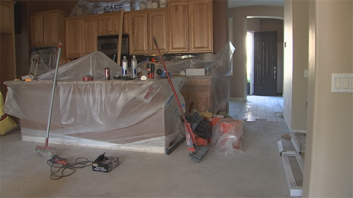 Dina Zolin gave $8,500 to an unlicensed contractor to do the floor tiles but he bailed and kept the money. (Source: 3TV/CBS 5)