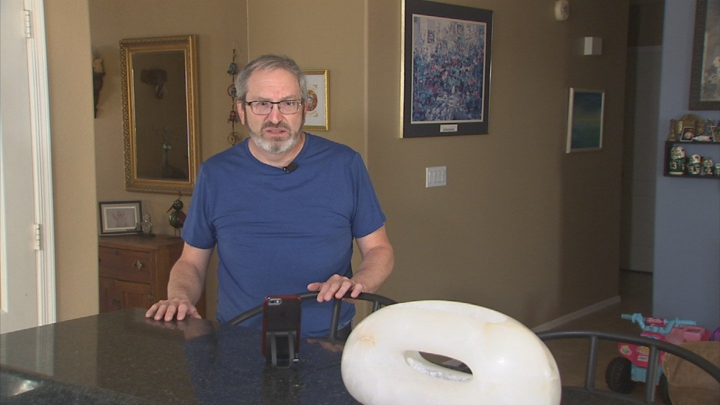 Mitchell Siegel is deaf and said the shaking was so strong last Monday, it woke them up. (Source: 3TV/CBS 5)
