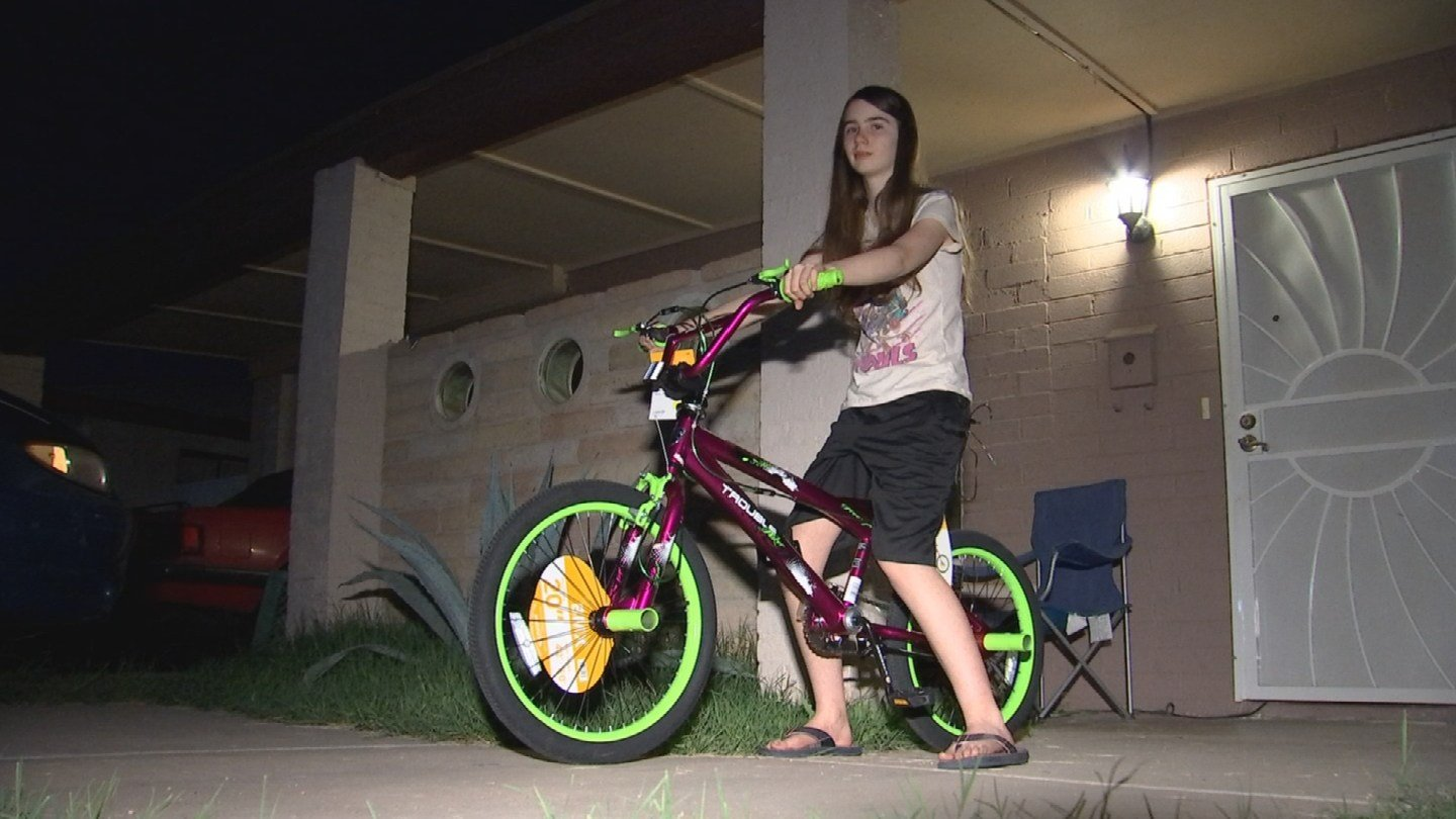 Kareeni Beckwith got some new wheels thanks to some Valley families that heard her story. (Source: 3TV/CBS 5)