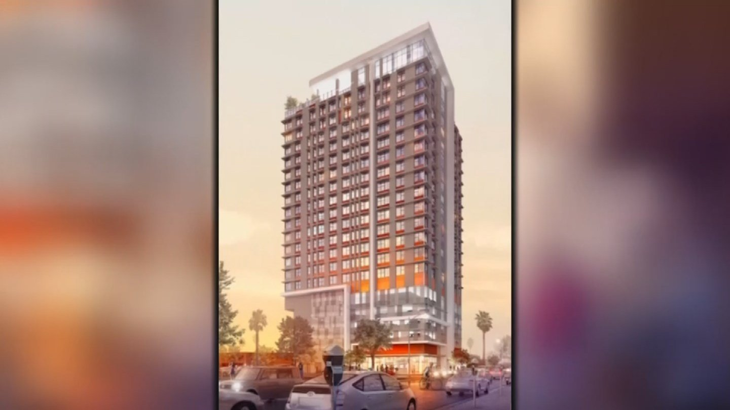 A Denver-based company received tax subsidies for its new apartment tower and a small business in downtown Phoenix isn't happy about it. (Source: 3TV/CBS 5)