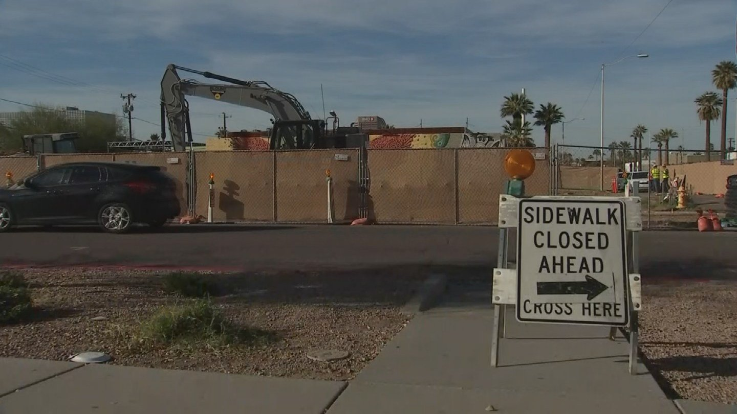 Construction is already underway on the new Derby Apartments, near Second and McKinley streets in downtown Phoenix. (Source: 3TV/CBS 5)