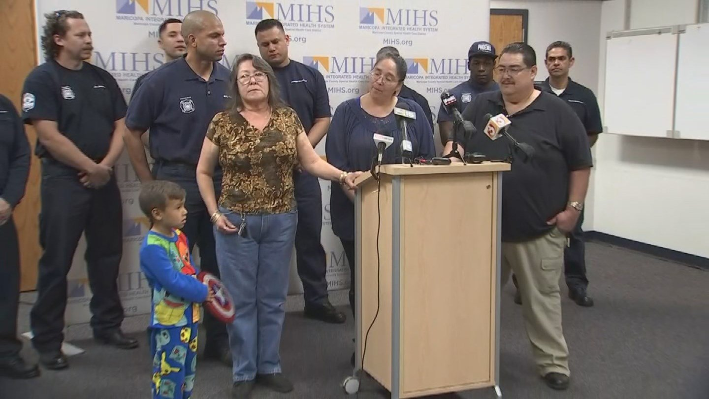 Family thanks firefighters for their bravery (Source: 3TV/CBS 5)