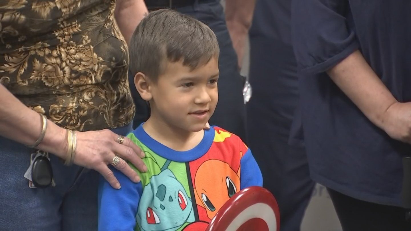 Little boy thanks firefighters for their bravery (Source: 3TV/CBS 5)