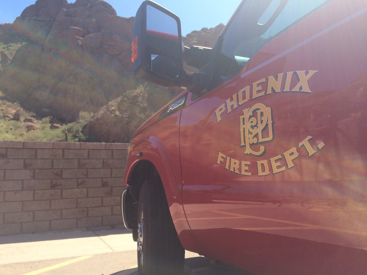Phoenix Fire Crews assist hikers at Echo Canyon Trail.