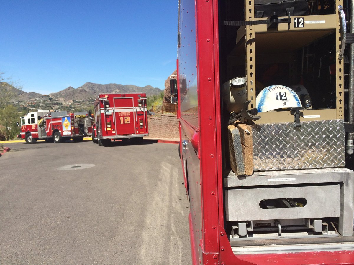 Phoenix fire crews assisted two hikers got off trail on Camelback Mnt. Echo Trail.