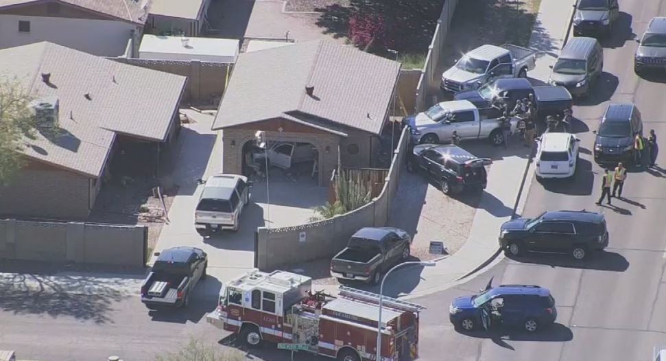 Truck crashes into home in Apache Junction. (Source: 3TV/CBS5)