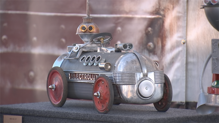 In his seven years as an artist, he has built 165 robots. (Source: 3TV/CBS 5)