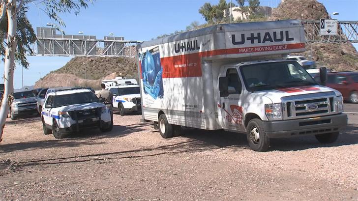 A suspected stolen U-Haul truck was found in Phoenix. (Source: 3TV/CBS 5)