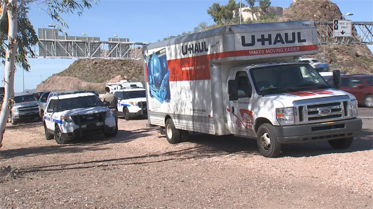 A suspected stolen U-Haul truck was found in Phoenix. (Source: 3TV/CBS 5)