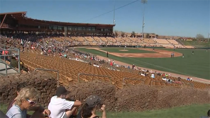The medical station at the Peoria Sports Complex treated 15 people on Monday afternoon. (Source: 3TV/CBS 5)