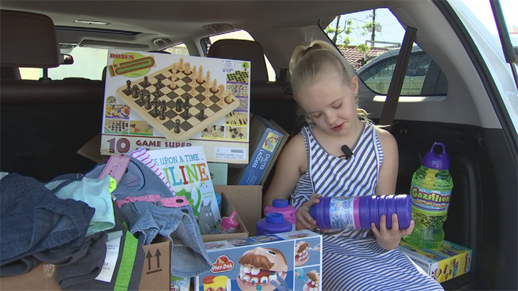 A 9-year-old Gilbert girl donated her birthday presents to charity. (Source: 3TV/CBS 5)