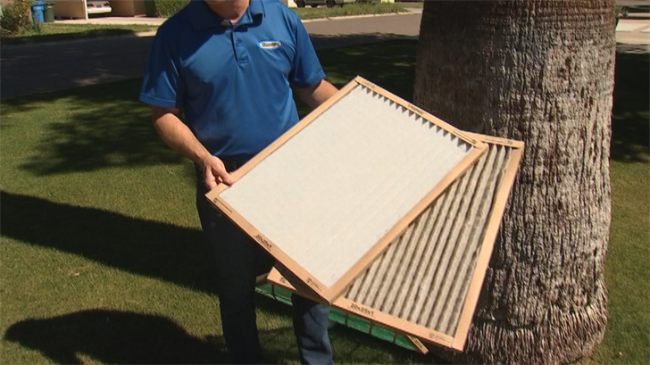 The No. 1 thing a homeowner can do to get the most efficiency out of their unit is change the filters on a monthly basis in the summer. (Source: 3TV/CBS 5)