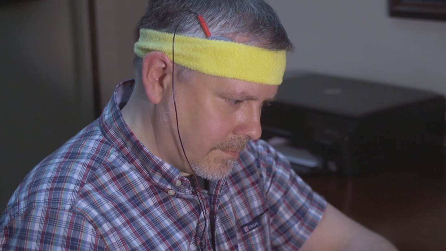 Steven Leinweber tried something called transcranial direct current stimulation, or tDCS. (Source: 3TV/CBS 5)