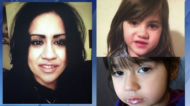 The Navajo County Sheriff's Office says Marisol Ruiz, 25, vanished with her daughters, Ciana, 6 (top) and Analiyah, 4. (Source: Arizona Department of Public Safety)