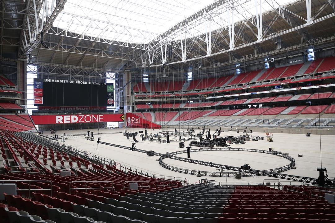 University of Phoenix Stadium is preparing to host the Final Four. (Source: Justin Toscano/Cronkite News)