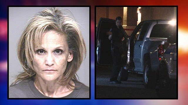 Booking photo of 53-year-old Delia Flores, along with the crime scene in Scottsdale. (Source: Scottsdale Police Department)