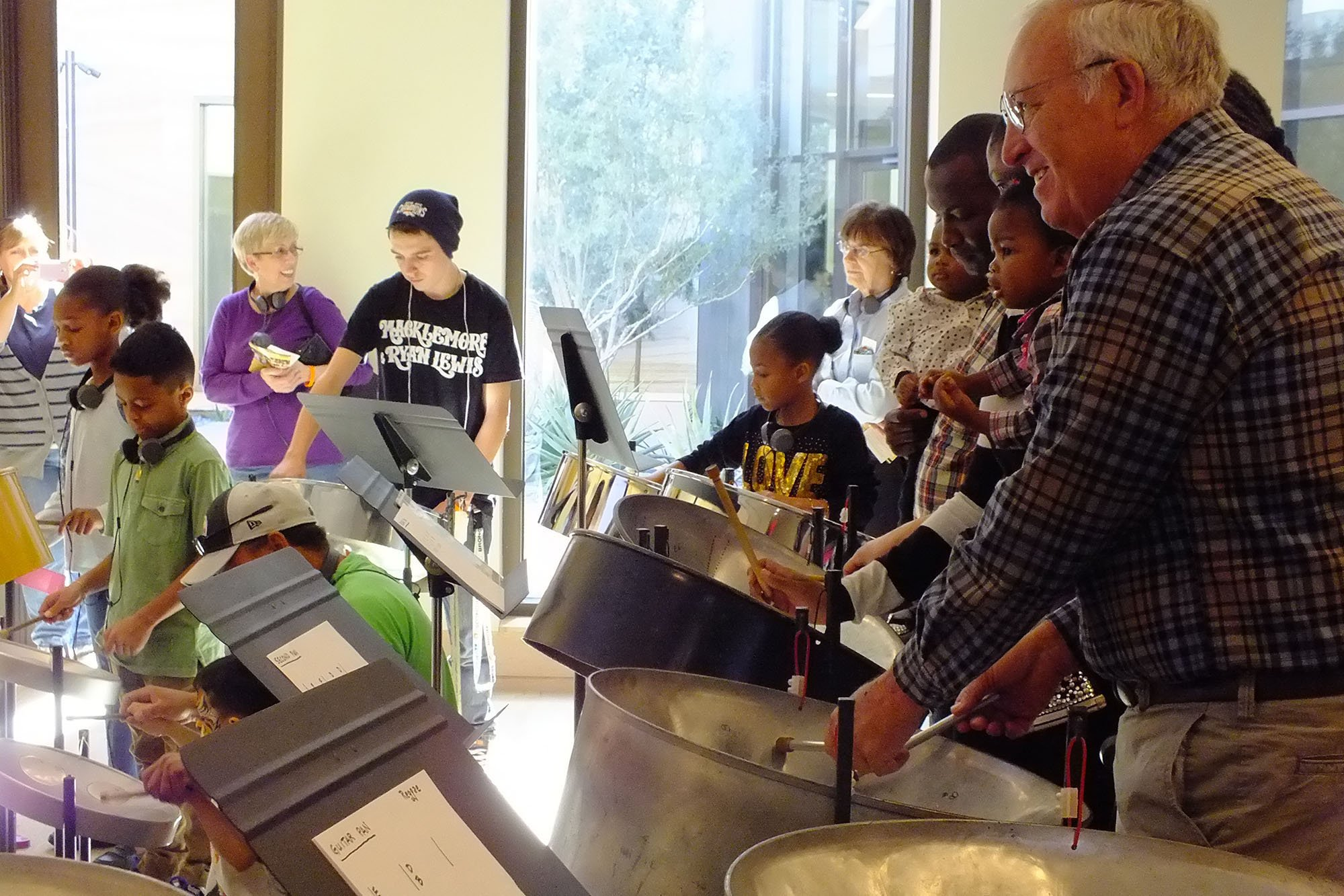 Children get hands-on with instruments at the Musical Instrument Museum in Phoenix, which gets funding from both the National Endowment for the Arts and the Arizona Commission on the Arts, officials said. (Source:  Musical Instrument Museum.)