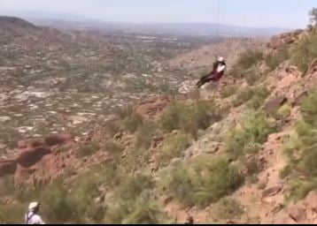 Camelback mountain rescue operation. Saturday 18, 2017 [Source: Phoenix Fire Department]