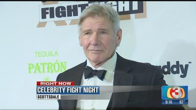Harrison Ford, one of the honorees at the 23rd Celebrity Fight Night.  18 March 2017 [Source: 3TV/CBS5]