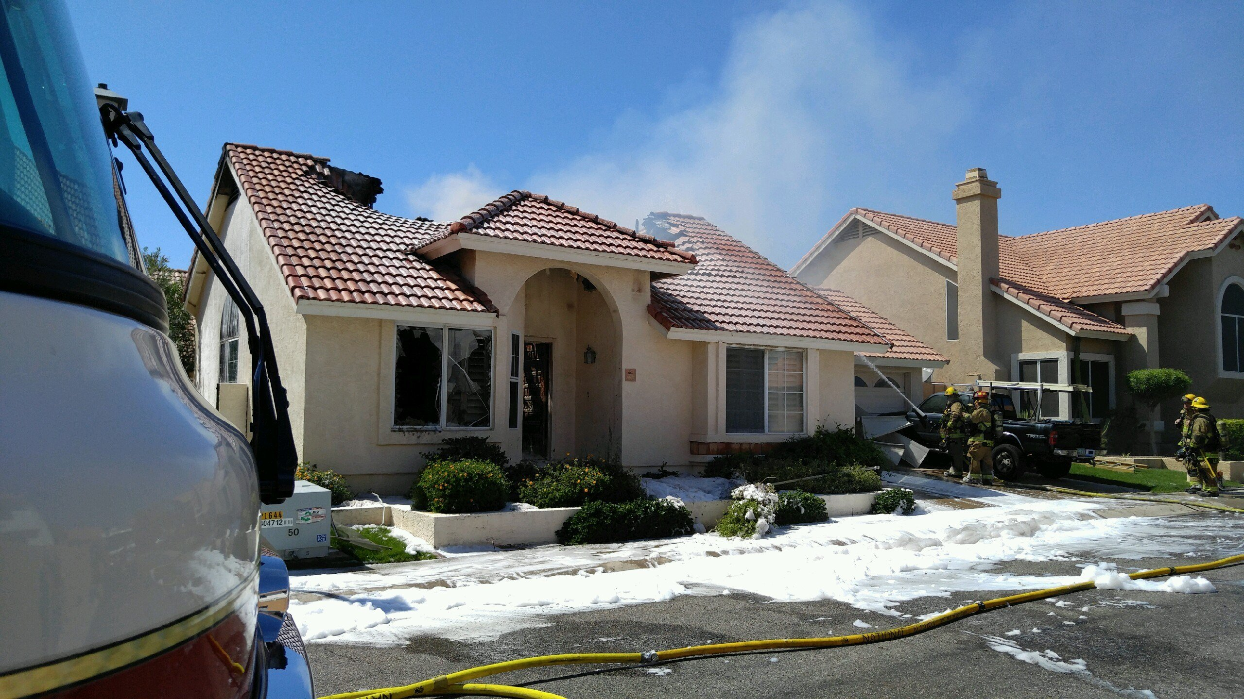 Fire destroys a home in Phoenix Sunday.  19 March 2017 [SOURCE: 3TV/CBS5 News]