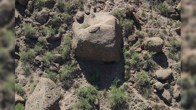 The 'Sugar Cube' formation at Echo Canyon (Source: Phoenix Police Department)