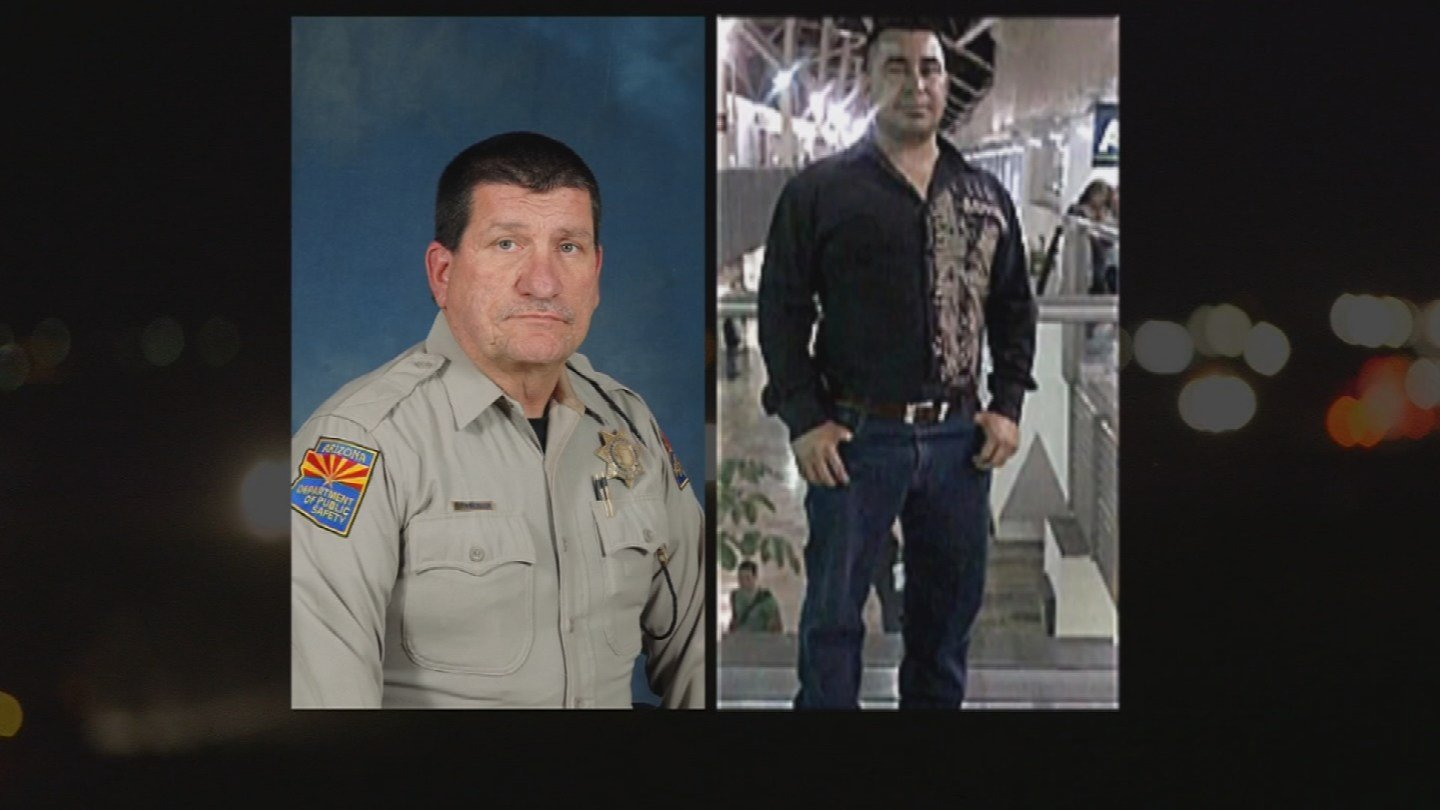 Trooper Ed Andersso and Leonard Penuelas-Escobar, 37 (Source: Department of Public Safety)