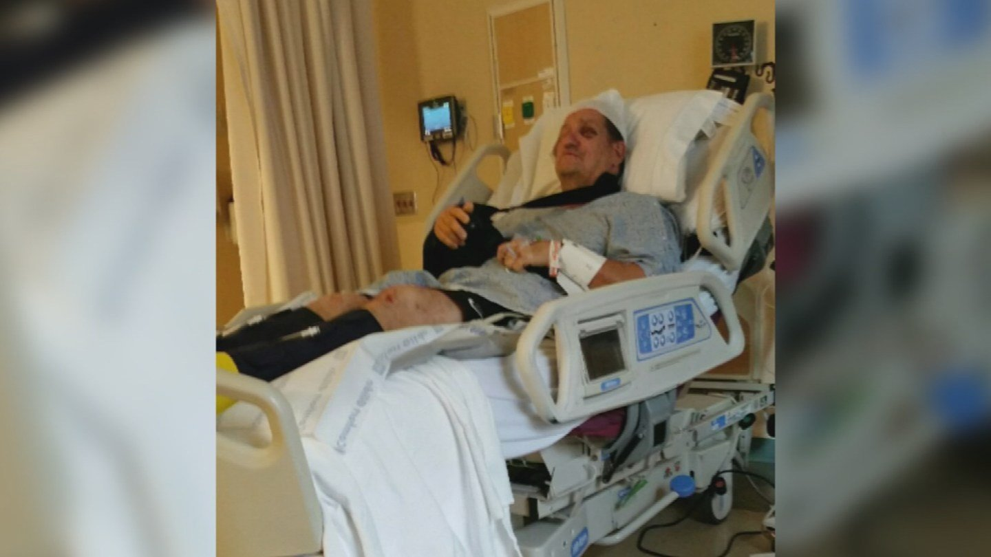 Trooper Ed Andersson recovers from his wound. (Source: CNN)