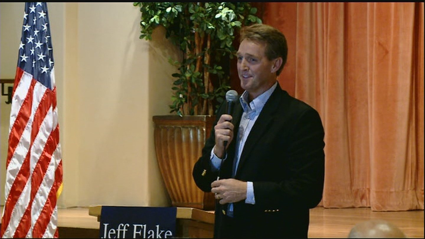 Sen. Jeff Flake said he isn't dodging voters and plans to have a town hall. (Source: 3TV/CBS 5)