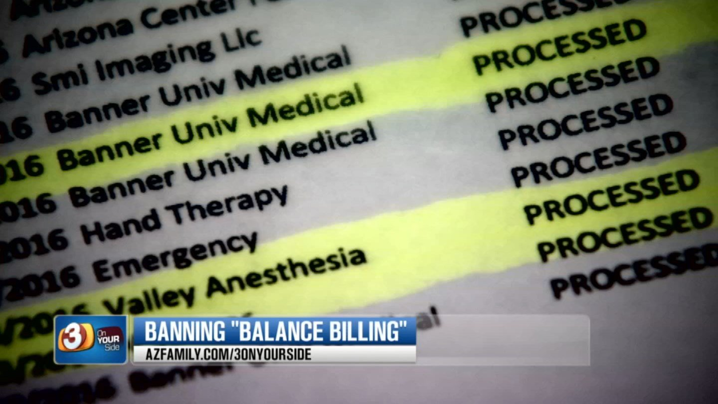 There's a new bill that would help eliminate so-called balance billing. (Source: 3TV/CBS 5)
