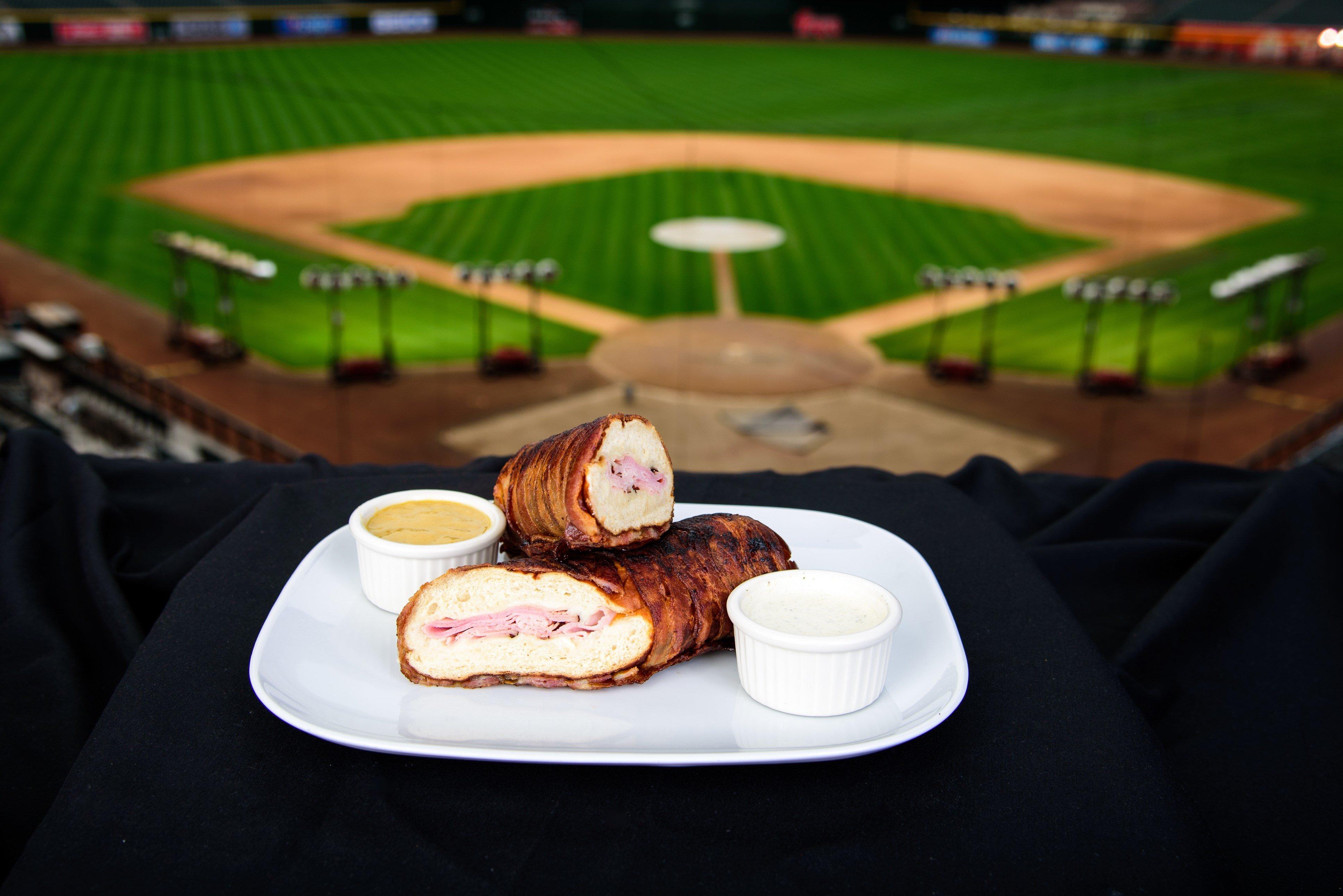 Bacon-rapped Pretzel Baguette. (Source: Sarah Sachs/Arizona Diamondbacks)