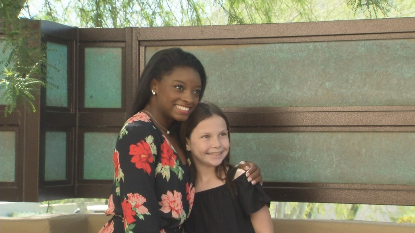 Biles spoke at Florence Crittenton's annual Team Up For Girls luncheon last week. (Source: 3TV/CBS 5)