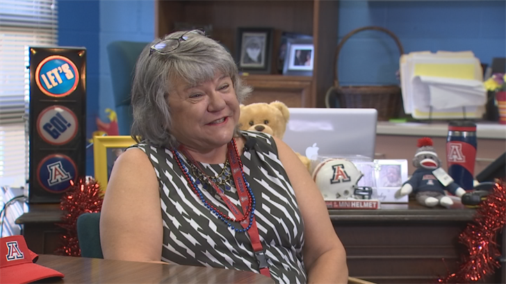 Principal Sharon Boomer is a big Arizona Wildcats fan. (Source: 3TV/CBS 5)