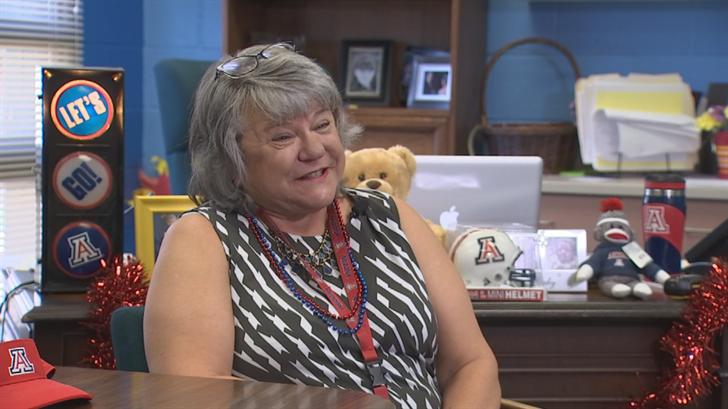 Principal Sharon Boomer is a big Arizona Wildcats fan. (Source: 3TV/CBS 5)