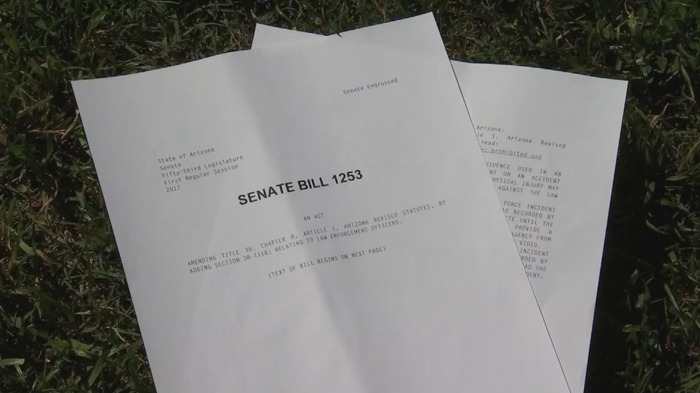 Critics say Senate Bill 1253 gives law enforcement time to alter their stories before speaking to investigators and will ultimately breed mistrust with the public. (Source: 3TV/CBS 5)