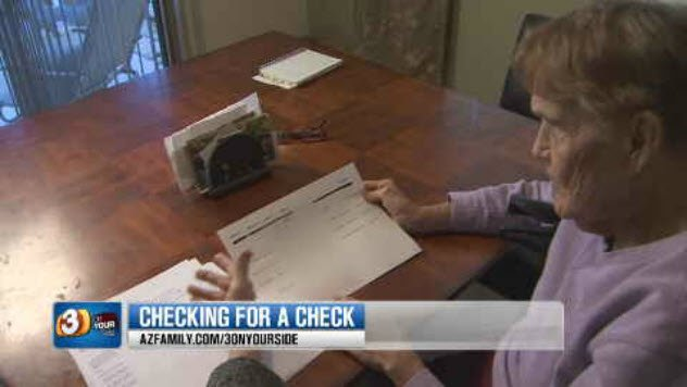 Mary Fowler misplaced the check and tried to ask for a replacement. (Source: 3TV/CBS 5)