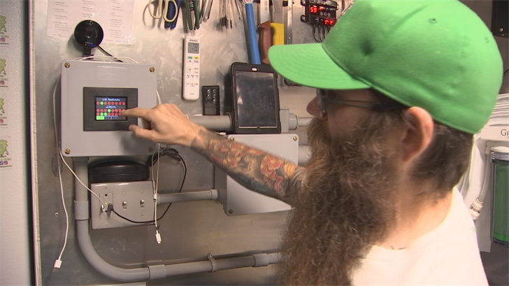 All of the controls from the air, water and CO2 levels can be controlled at the touch of an iPad. (Source: 3TV/CBS 5)