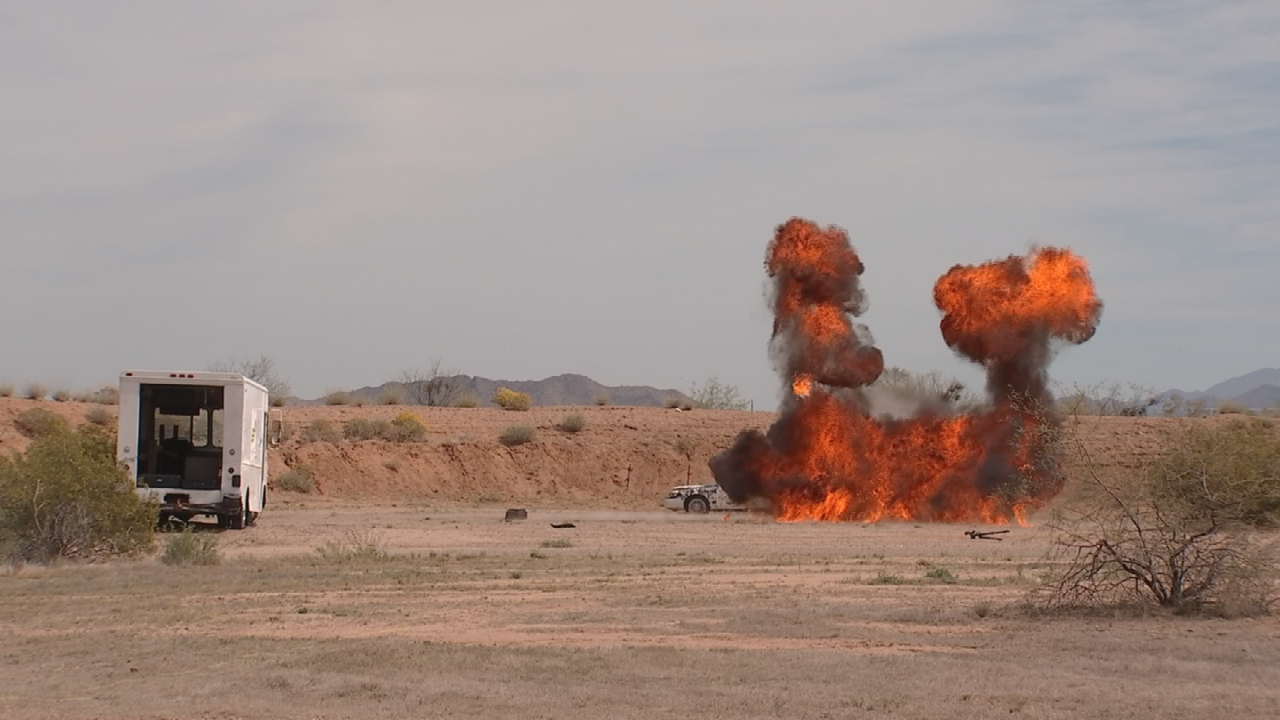 The Feds and the U.S. Army teamed up in Marana to run bomb squad exercises to prepare for real-life scenarios. (Source: 3TV/CBS 5)