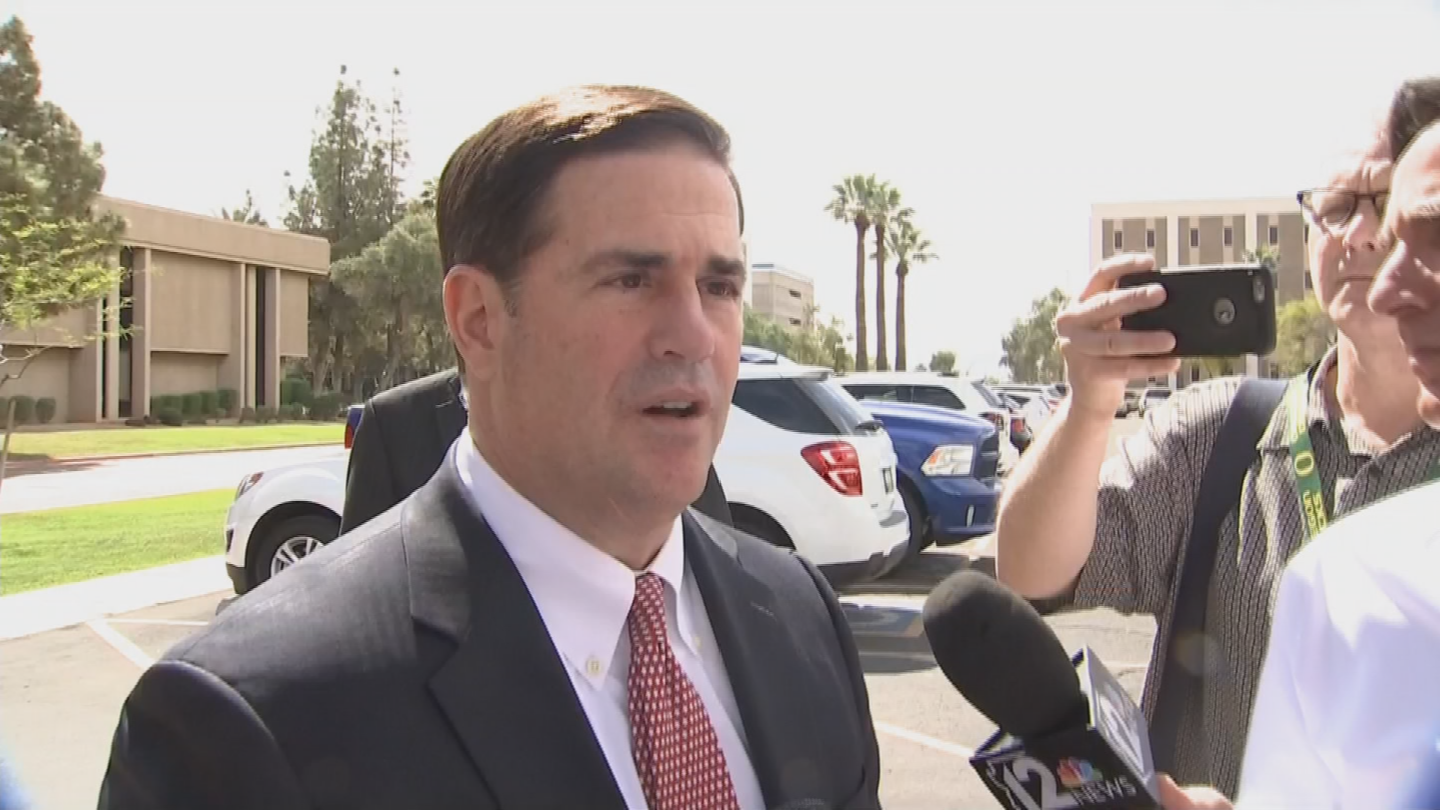 Gov. Ducey isn't backing down from his opposition to a bill that would repeal and replace Obamacare. (Source: 3TV/CBS 5)