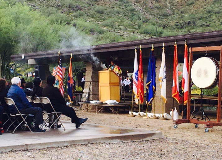 Sunrise memorial ceremony honoring Spc. Lori Piestewa. (Source: 3TV/CBS 5)
