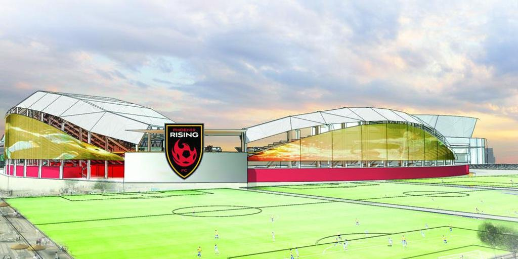 An illustration of what the stadium will eventually look like. (Source: phxrisingfc.com)