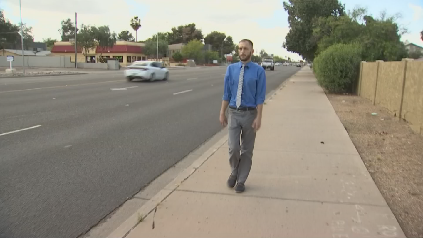 Thomas Mayes was attacked and robbed while walking down the street in Tempe. (Source: 3TV/CBS 5)