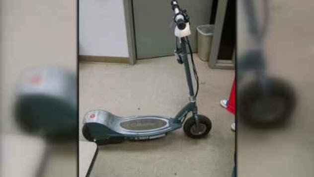 Bouchard says his daughter's scooter is still locked up in evidence and can't even get it until after the trial. (Source: 3TV/CBS 5)