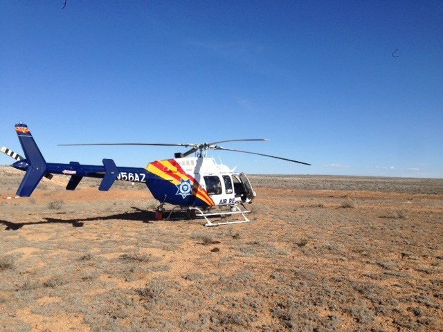 A DPS helicopter found her after she got cell service and called 911. (Source: DPS)