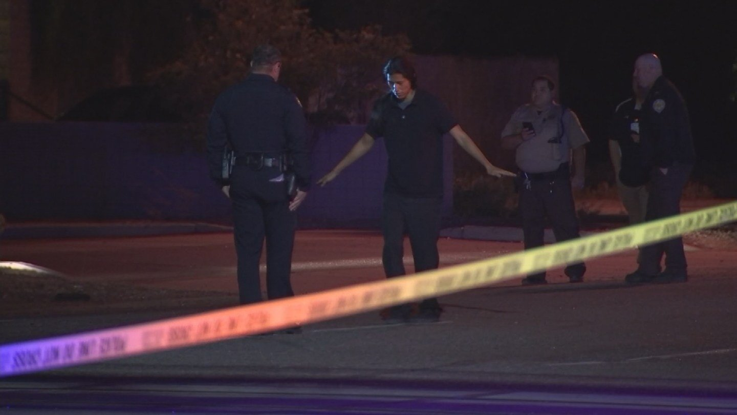 Police administered a field sobriety test to the driver of the Cadillac. (Source: 3TV/CBS 5)