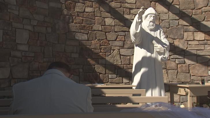 The shrine of St. Charbel. (Source: 3TV/CBS 5)
