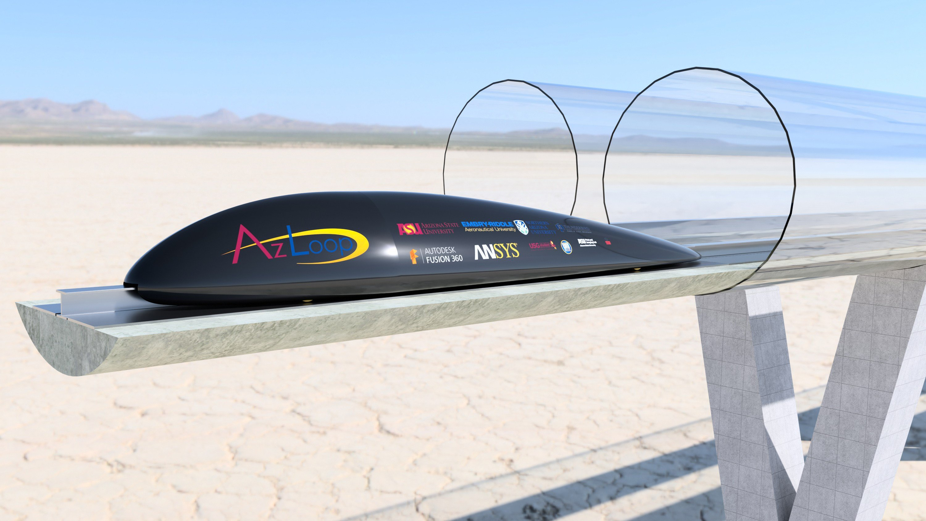 Students from several major Arizona schools have joined forces to form AZLoop and will participate in SpaceX's Hyperloop competition. (Source: AZLoop)
