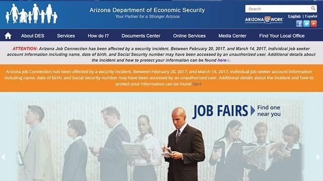 (Source: AZ Dept. of Economic Security and Arizona Job Connection)