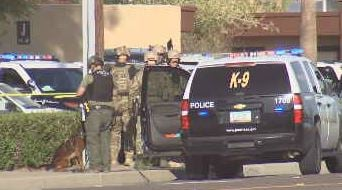 Peoria police scene after shooting near 88th Avenue. [Source: 3TV/CBS5]